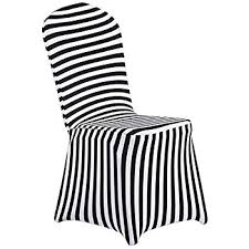 Ruffled Chair Covers Amazon Com Spandex Chair Covers Black And White Striped Home