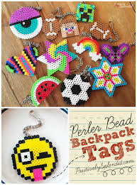 craft for kids perler bead backpack tags
