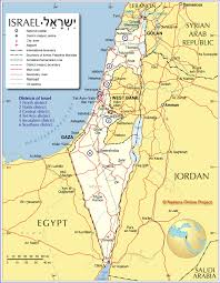 Political Map Of The Middle East by Administrative Map Of Israel Nations Online Project