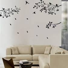 aliexpress com buy fashion black tree branches birds leaves home