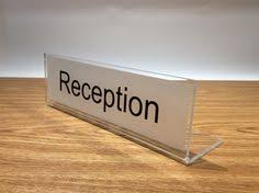 Reception Desk Signs Reception Desk Sign Freestanding Desk Top Sign With Space To Pop