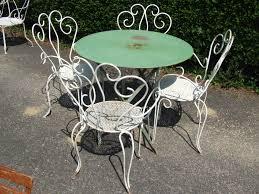 Aluminium Garden Chairs Uk G099 S Pair Vintage French Wrought Iron Garden Patio Chairs
