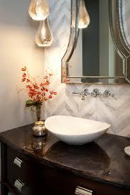hamptons inspired luxury powder room robeson design san diego