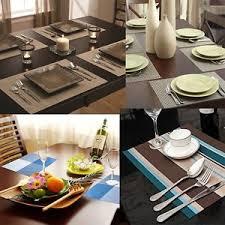 large plastic table mats aspire 4pcs insulation place mat washable table mats home kitchen
