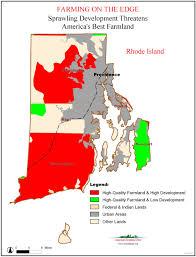 Map Of Ri American Farmland Trust Resources Farming On The Edge Report