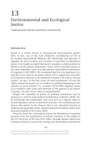 environmental and ecological justice springer