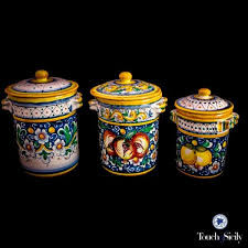italian canisters kitchen 101 best deruta images on ceramic pottery italian
