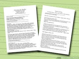 How Do You Do A Job Resume 7 Ways To Make A Resume Wikihow