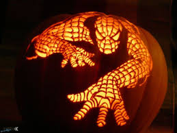 decorating ideas minimalist kid spiderman pumpkin carving lantern