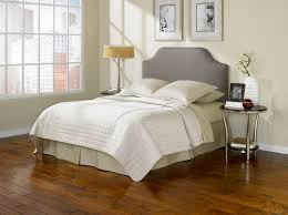 Roma Tufted Wingback Headboard Taupe Fullqueen by Contemporary Small Side Table Bedroom Plus Wood Floor Tile Idea