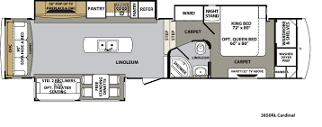 Puma 5th Wheel Floor Plans by Forest River Cardinal Floor Plans Fifth Wheel Forest Rv Dealer