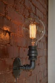 Edison Bulb Wall Sconce Industrial Sconce Steampunk Wall Sconce Industrial Light