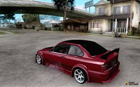 widebody cars bmw e36 wide body drift for gta san andreas