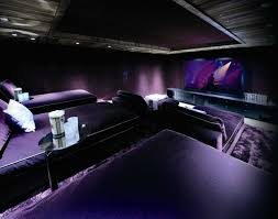 cool color scheme with lay down seating awesome home theater
