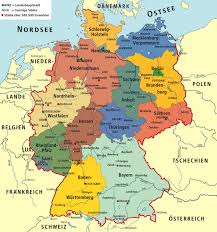 map of gemany germany political map