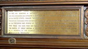 Resolute Desk The Story Of Why The Resolute Desk Was Given By Queen Victoria To
