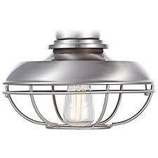 Universal Light Kits For Ceiling Fans by Franklin Park Brushed Nickel Damp Ceiling Fan Light Kit 7h580