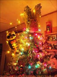 custom guardians of galaxy tree topper turns christmas tree into groot