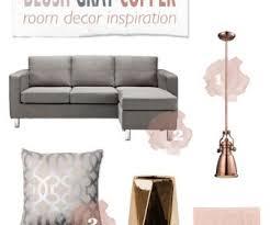 copper room decor gray copper blush living room decor mood board best ideas of for