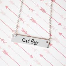 girl with gold necklace images Girl boss gold silver bar necklace jpg