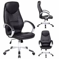 black leather desk chair high back executive pu leather swivel office chair high back