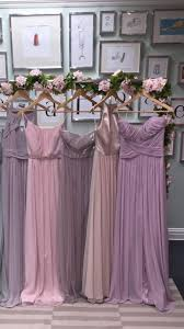 love these different shades of dusty pink and purple bridesmaid
