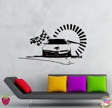 cartoon car back vintage race car wall decals race car wall decals for kids