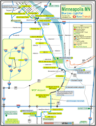Map Of The Mall Of America by Minneapolis Hiawatha Light Rail System Rsus