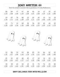 100 halloween math puzzles 5th grade print math worksheets