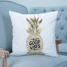taie d oreiller pour canapé 45 45 cm housse de coussin bronzage d or ananas imprimé taie d