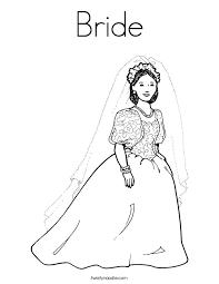 bride coloring twisty noodle