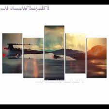 popular 5 piece canvas art buy cheap 5 piece canvas art lots from hd print oil painting home decoration modular pictures aircraft movie posters child room decor modern nordic