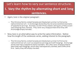 the sentence i sentence structure ppt