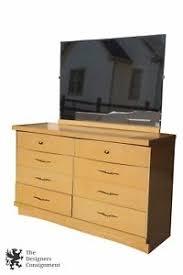 Vanity Dresser With Mirror Vintage Bassett Furniture Chest Six Drawers Vanity Dresser With