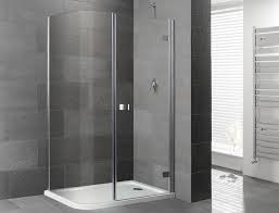 orca curved corner frameless shower enclosure with shower tray