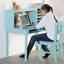 amazon com guidecraft media desk u0026 chair set teal kitchen u0026 dining