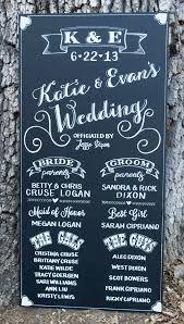 wedding program poster chalkboard wedding signs