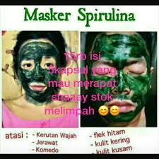 Masker Spirulina Per Butir spirulina kesehatan kecantikan kulit sabun tubuh di carousell