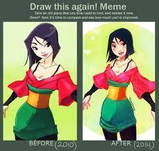 Mulan Meme - draw this again mulan doodle by yukihyo on deviantart