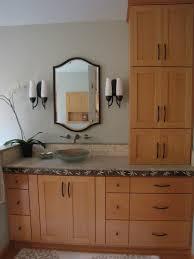 creative of bathroom vanity with linen cabinet bathroom linen