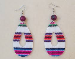 eco earrings cloth earrings etsy