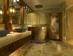 Bathroom Floor Coverings Ideas Bathroom Inspiring Rustic Bathroom Design Using Light Grey