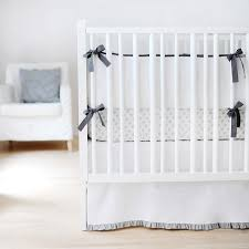 White Crib Set Bedding White Crib Skirt Gray Crib Skirt Ruffle Crib Skirt
