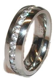 stainless steel wedding bands his hers cz wedding ring set 3 stainless steel wedding