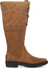 quilted ugg boots sale ugg elsa deco quilt boots in brown lyst