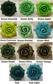green roses green hair pins green hair