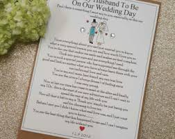wedding card from groom to to groom card etsy
