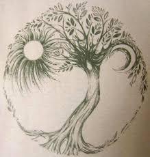 21 zen tree circle tattoos ideas