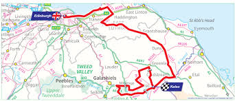 Tour De France Route Map by Ovo Energy Tour Of Britain Stage One Edinburgh To Kelso