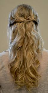 simple braided prom half updo hairstyle for long hair popular
